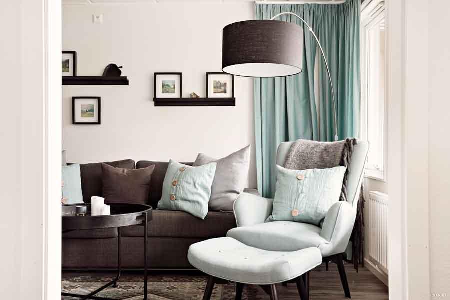 Vardagsrum i lägenhet som hotellrum på Bokenäset Hotell & Konferens